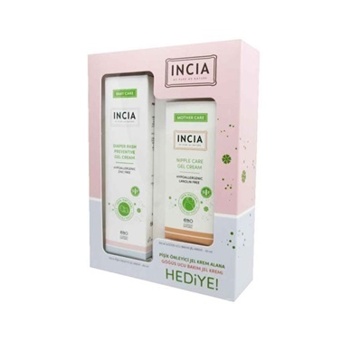 Incia Diaper Rash 60ml + Nipple Care Gel Cream 30ml Set Renksiz